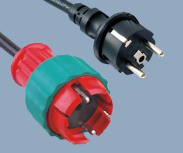 Extension Cord Schuko IP44 Plug and German Socket