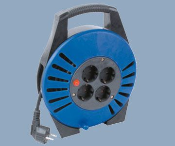 Cord Reel Plastic Reel Body German Sockets Max 20m