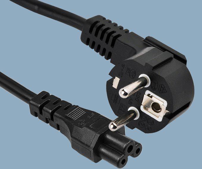 Indonesia SNI 3 Poles Plug to IEC 60320 C5 Power Cord