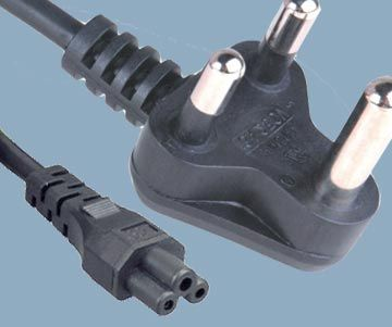 India SABS 164-1 STQC Plug to IEC 60320 C5 Power Cord