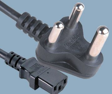 India Plug to IEC 60320 C13 Power Cord