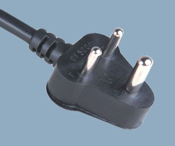 India Power Supply Plug Cord 6A 250V