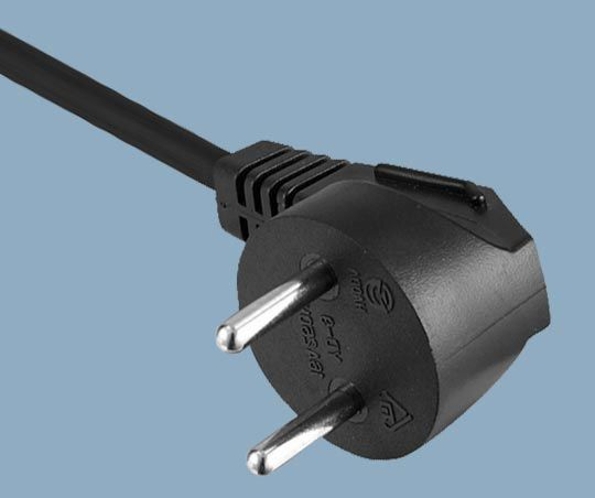Israel SI-32 Standard 16A 2 Poles SII Angle Plug Power Cord