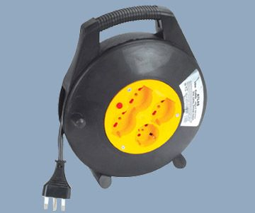 Italy Type Extension Cord Reel 4 Outlet Max 10M