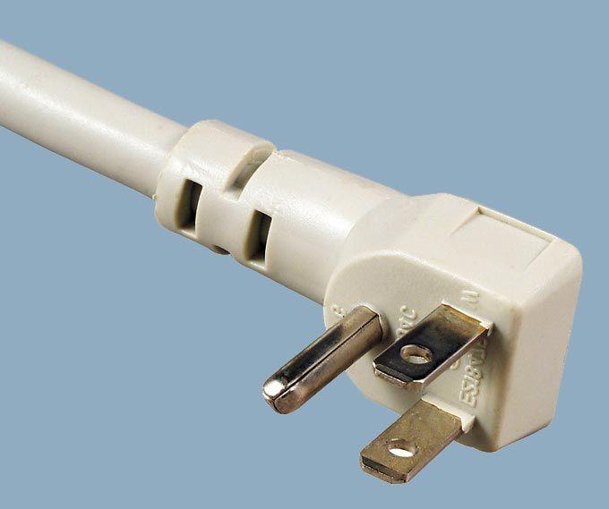 Japan JIS 8303 PSE JET 2P Right Angle Low Profile Plug AC Power Cord
