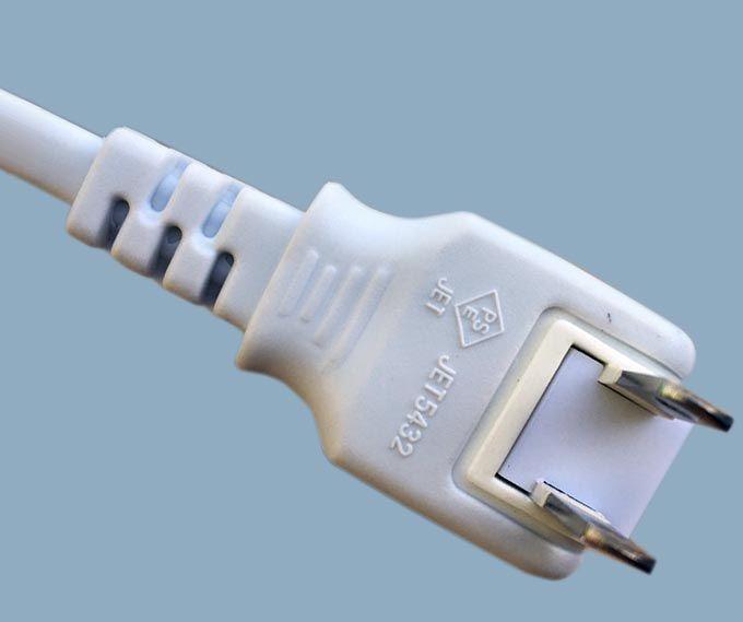 Japan JIS 8303 PSE JET 2-pole Rotation 180 Degree Direction Plug Power Cord