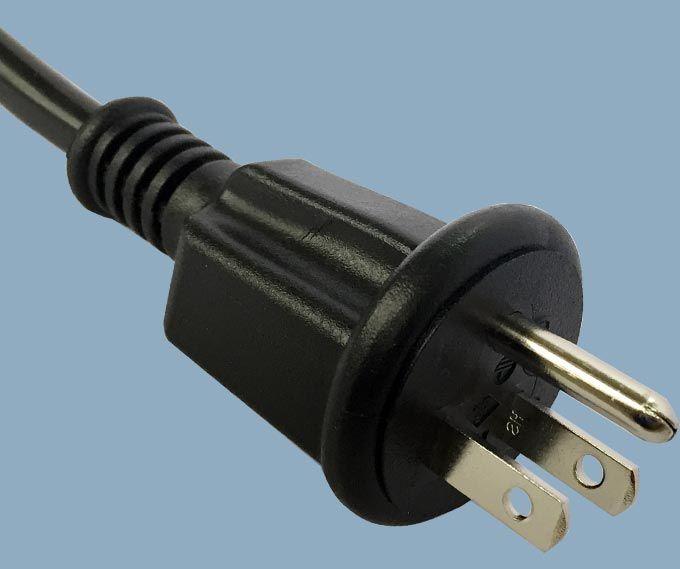 Japan JIS 8303 PSE JET 3 Conductor 15A Waterproof Outdoor Plug Power Cord