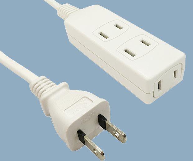 2 Condcutor 5 Outlet Extension Power Strip