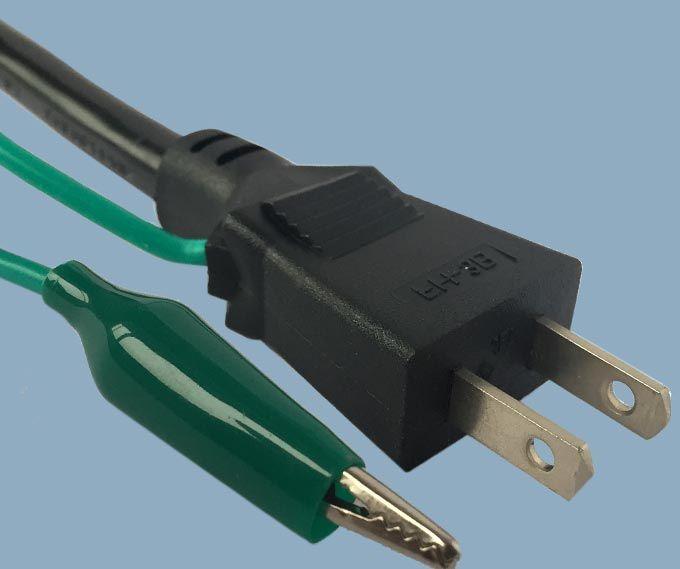 Japan JIS 8303 PSE JET Plug with Alligator Clip Power Cord