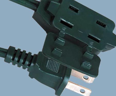 1-15 13A 125V Cube Tap New Design 2 Prong Indoor Extension Cord