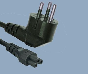 Thailand plug to IEC C5 Mickey Mouse power cord