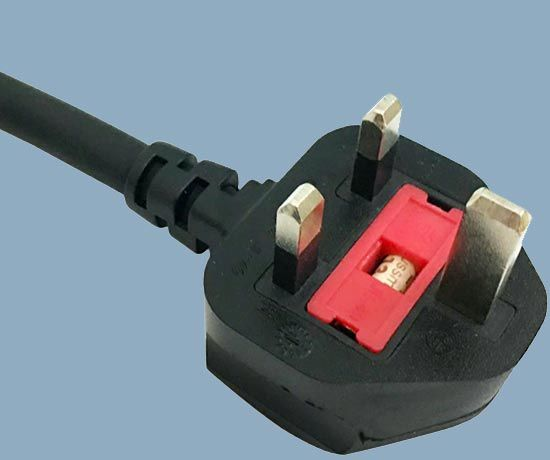 UK ASTA BS1363/A Overmold Fuse Max 13A Plug Mains Lead
